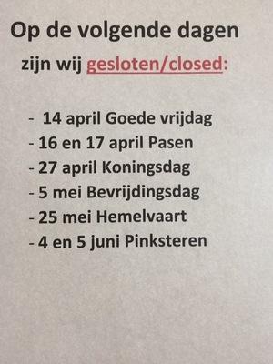 Gesloten/ closed / geschlossen
